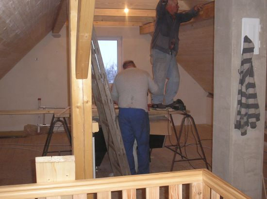 Dokončení stropu a schodů